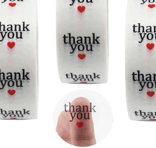 Etiquetas adhesivas redondas transparentes