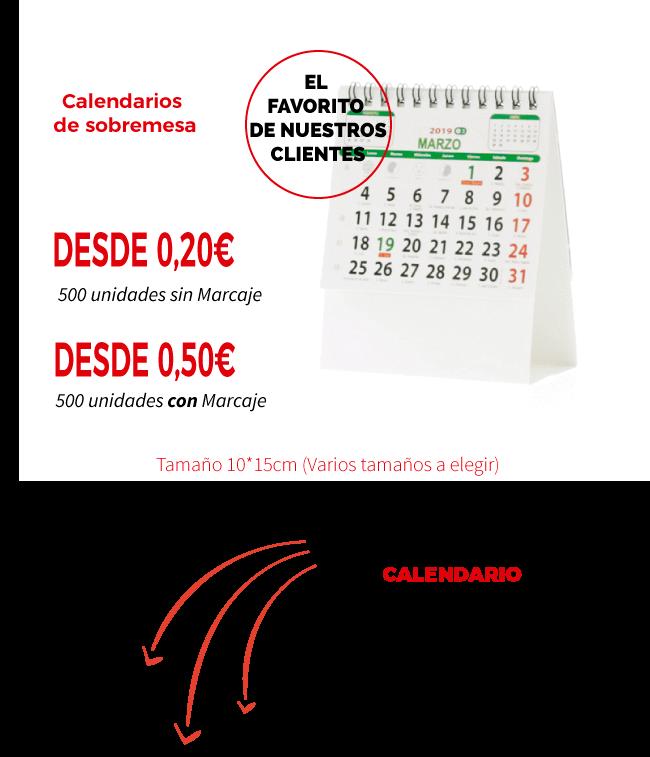 Calendarios personalizados 2019 en Centralimpresion