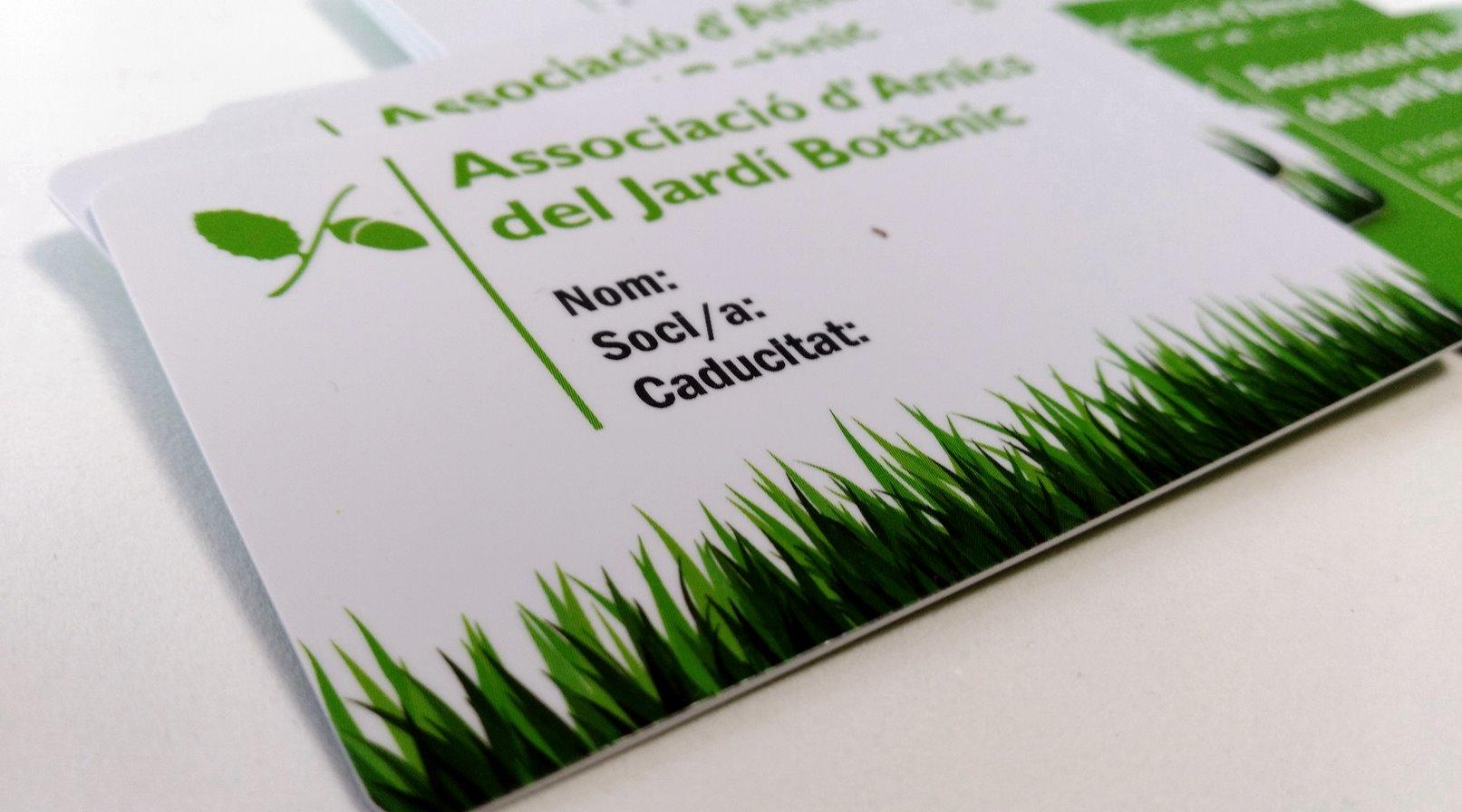 Carnet de socio para asociaciones botanicas