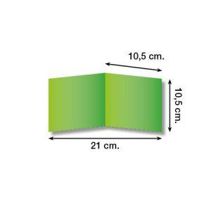 Diptico en papel-cuadrado-10,5 x 10,5cm-135