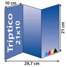 Triptico en papel-vertical-DinA4- 21 x 29,7cm-90gr
