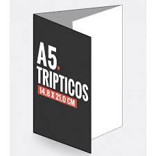 Triptico en papel-vertical-DinA5-14,8 x 21cm-90