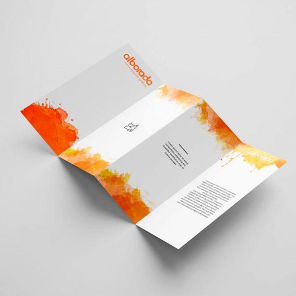 Triptico en papel-vertical-DinA6-10,5 x 14,8cm-250gr